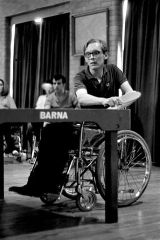 Photo:Philip Lewis playing at Stoke Mandeville in 1963