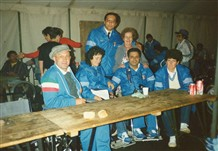 Photo:Mary Brennan with the Italian team at Stoke Mandeville International Games, 1978