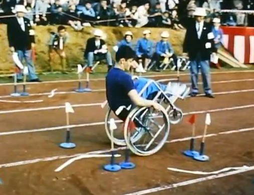 Photo:Wheelchair Slalom at the 1964 Tokyo games