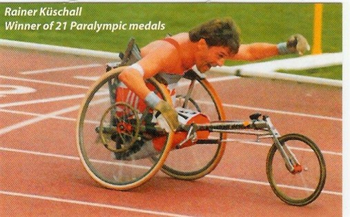 Photo:Rainer Kuschall who raced at all distances from 100 metres to Marathon, 1992
